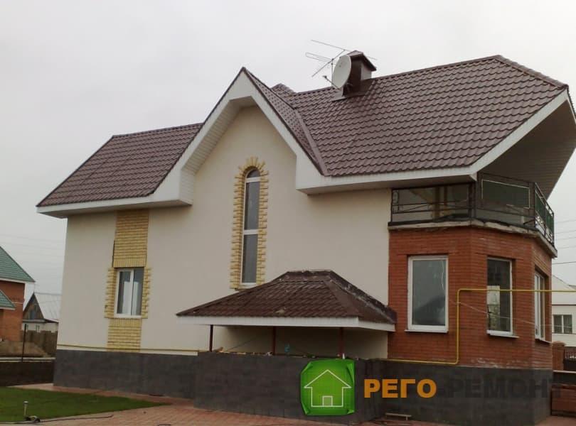 Двухэтажный дом 6 на 9 из бруса 200х200 с верандой